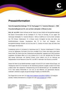 Dank #congstarfanchallenge: FC St. Pauli gegen F.C. Teutonia Ottensen v. 1905
