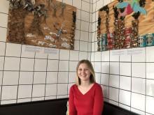 Elevs personliga projekt kring miljöproblem, ställs ut som konst på Hotell Kristina