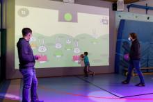 Die Sporthalle als interaktives Spielfeld