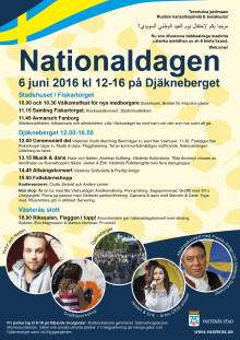 Nationaldagen firas med pompa och folkfest på Djäkneberget