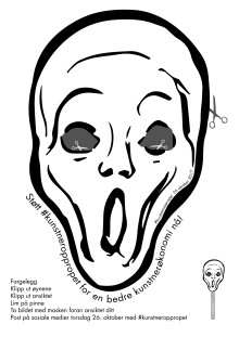 """Skrik""-maske"