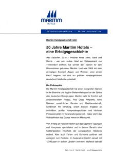 50 Jahre Maritim Hotels –  eine Erfolgsgeschichte
