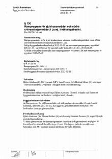 Inriktningsbeslut för sjukhusområdet (från 2013)