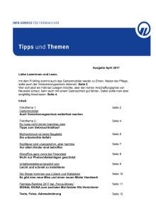 Tipps und Themen 4-2017