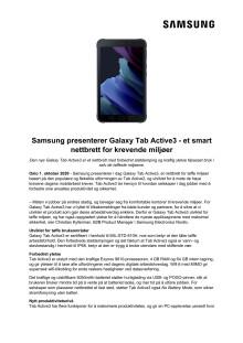 Samsung presenterer Galaxy Tab Active3 - et smart nettbrett for krevende miljøer