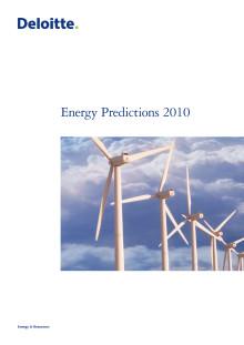 Energy Predictions 2009
