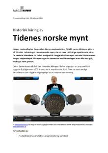 Historisk kåring av Tidenes norske mynt