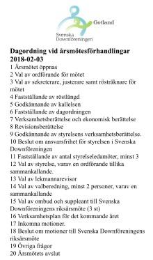 Årsmöte avdelning Gotland