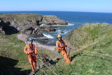 Portknockie landslip work underway and new info centre opened