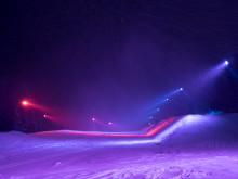 Unik färgbelyst snow park förhöjer upplevelsen i Åre