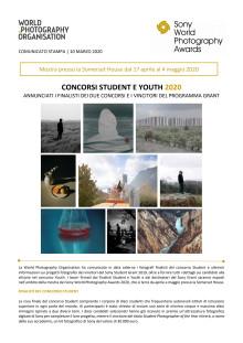 Sony World Photograhy Awards 2020 - Concorsi Student e Youth 2020 - Annunciati i finalisti dei due concorsi e i vincitori del programma Grant