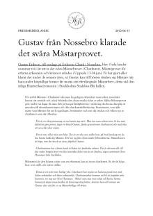 Gustav från Nossebro klarade Mästarprovet.