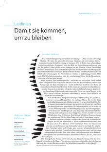"""""""Damit sie kommen, um zu bleiben"""": Kolumne von Volker Feldkamp im f&w-Magazin"""