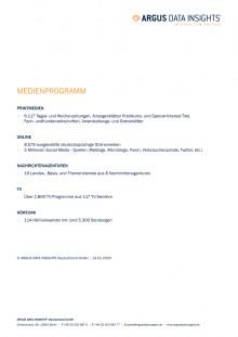 Deutschland - Medienprogramm vom 13.01.2020