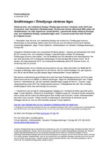 Värdebarometern 2015 Örkelljungas kommun