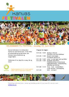 Program Kanvas-festival Frognerparken 10.06.2015