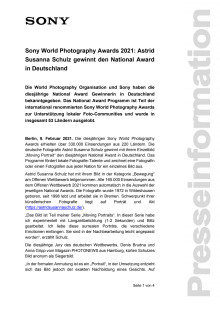 Sony World Photography Awards 2021: Astrid Susanna Schulz gewinnt den National Award in Deutschland