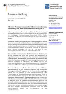Pressemitteilung Monitor Patientenberatung 2018