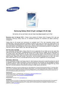Samsung Galaxy Note 8.0 gör vardagen till ett nöje