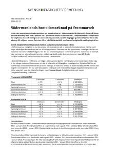 Södermanlands bostadsmarknad på frammarsch