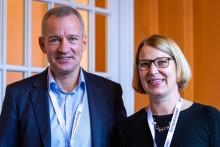 Dr. Bele Jakisch und Prof. Christoph Keck auf dem 1. HH Präventionstag