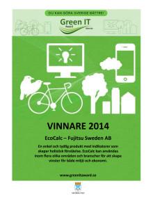 Vinnardiplom Green IT Award 2014
