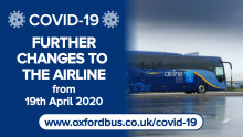 COVID-19 - Further changes to the airline