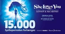 SHE LOVES YOU forlænger igen i Fredericia efter 15.000 solgte billetter