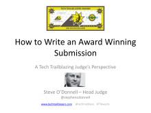 Be a winner! Top tips for winning the Tech Trailblazers Awards