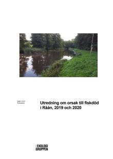 Utredning om orsak till fiskdöd i Råån