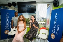 Poppy Ntshongwana, Discovery Insure and local celebs raise road safety awareness