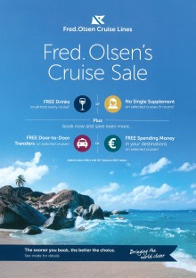 Fred. Olsen Cruise Lines celebrates another bumper start to the New Year