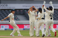 England Women take flurry of late wickets at Bristol