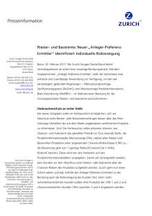 """Riester- und Basisrente: Neuer """"Anleger-Präferenz-Ermittler"""" identifiziert individuelle Risikoneigung"""