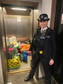 Officers in Tower Hamlets donate toys and clothes to children