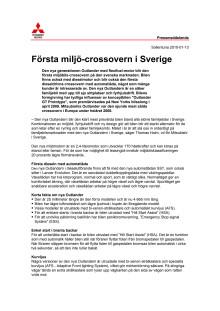 Första miljö-crossovern i Sverige