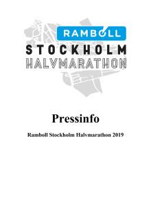 Presskit Ramboll Stockholm Halvmarathon 2019