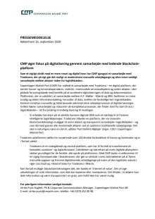 CMP øger fokus på digitalisering gennem samarbejde med ledende blockchain-platform