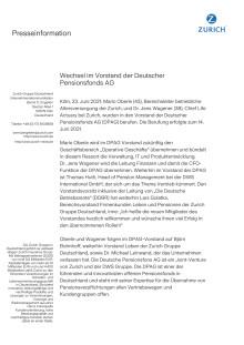 Wechsel im Vorstand der Deutscher Pensionsfonds AG