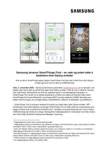 Samsung lanserer SmartThings Find – en rask og enkel måte å lokalisere dine Galaxy-enheter
