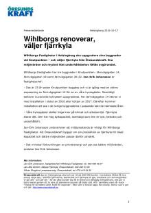 Wihlborgs renoverar, väljer fjärrkyla