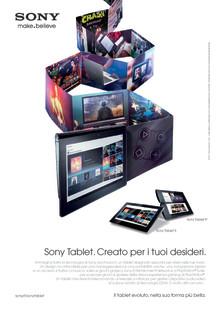 """""""Il tablet evoluto, nella sua forma più bella""""."""
