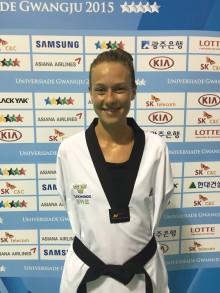 Brons i taekwondo på Universiaden av Nikita Glasnovic från Malmö och student vid Linnéuniversitet i Växjö