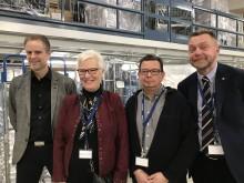 Integrations- och hållbarhetsfrågor på agendan när Berendsen i Ockelbo fick besök av riksdagens förste vice talman Åsa Lindestam