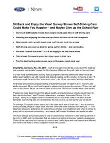 Go Further: Ny Ford-undersøgelse afslører de mange fordele ved selvkørende biler