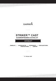 Datenblatt Garmin STRIKER Cast