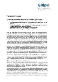 Deutliche Verbesserungen in den Gothaer SBU-Tarifen