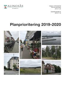 Alingsås kommun planprioritering 2019-2020