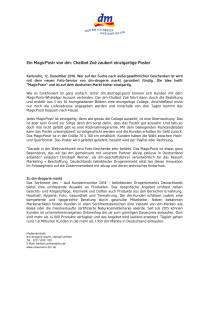 Pressemitteilung: Ein MagicPostr von dm: Chatbot Zoé zaubert einzigartige Poster