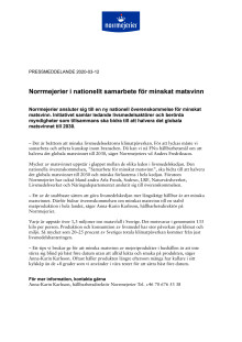 Norrmejerier i nationellt samarbete för minskat matsvinn.